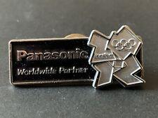 Raro Juegos Olímpicos de Londres 2012 Pin Insignia Panasonic patrocinador socio Negro Plata
