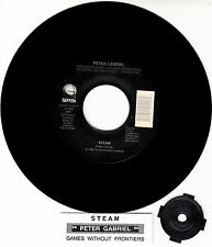 "PETER GABRIEL Steam 7"" 45 rpm vinyl record + juke box title strip NEW"