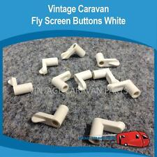 Caravan FlyScreen Clips White x 10 Vintage Viscount, Franklin, Millard, W0128