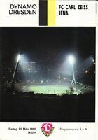 OL 89/90 SG Dynamo Dresden - FC Carl Zeiss Jena