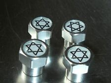 JEWISH STAR OF DAVID CAR TYRE VALVE CAPS