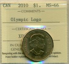 """2011 Canada $1.00 """"Parks Canada"""" Certified ICCS MS-66"""