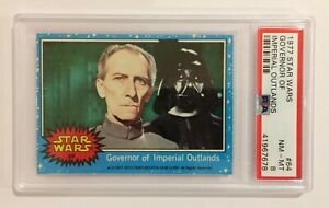 1977 TOPPS STAR WARS TRADING CARD - SERIES 1: BLUE - #64 VADER & TARKIN - PSA 8