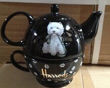 HARROD'S TEA POT AND CUP COMBONATION PUPPY POT / Paw Cup