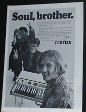 1969 Farfisa compact Organ has Soul photo print Ad