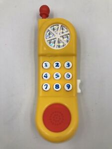 Fisher Price Kiddicraft Vintage Car Phone Plastic Yellow Toy - 90s Mobile Phone