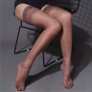Women High Stockings Lace Top Hold Up Shiny Thigh Hosiery Clubwear Long Socks