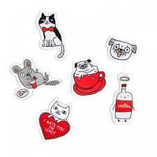 Gemma Correll Pop Out Frigo Magneti X 6 Il negozio di mettere regalo (Carlino, mouse, CAT)