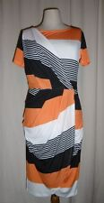 Heine Elegant Summer Dress Wraparound Look Wrap Dress Stripes 34 New
