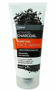 Optima Activated Charcoal Purifying Face Wash 200ml - Paraben & SLS Free
