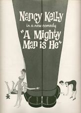 "Nancy Kelly  ""A Mighty Man Is He""  Broadway Souvenir Program 1960  FLOP"