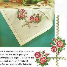 Stickvorlage * Rosen * Decke und Kissen mit Rosenmotiv Kreuzstich Anchor