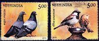 India 2010 MNH 2v, Birds, Pigeon, Sparrow
