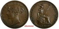 Great Britain Victoria (1837-1901) Copper 1853/2  Half Penny OVERDATE  KM# 726