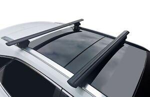 Alloy Roof Rack Cross Bar for KIA Sportage 2011-21 SL QL Lockable 120cm Black