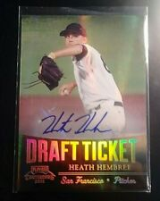 2011 Playoff Contenders AUTOGRAPH Draft Ticket Heath Hembree Rookie Auto RC