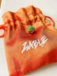 NEW Zable 925 Sterling Silver Swarovski August Crystal Birthstone Charm Bead