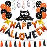 1 Set Happy Halloween Decoration Bat Balloon Party Hanging Letter Balloons Prop