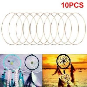 10pcs 6''Dream Catcher Dreamcatcher Rings DIY Hoops Ring Macrame Craft Hoop Gold
