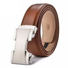 Men Belt Casual Automatic Buckle Formal Genuine Leather Classic Fashion Business