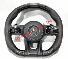 W464 W463A Carbon Steering Wheel Mercedes-Benz G-Class OEM Leather 2019UP