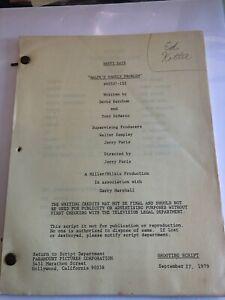 HAPPY DAYS Vintage Original Script September 27 1979