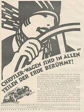 J1127 Automobili CHRYSLER Company - Pubblicità grande formato - 1927 Old advert