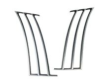 satin rear 1/4 quarter panel louvers insert trim 2010-15 Chevy Camaro