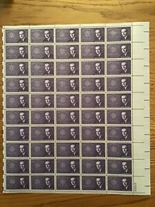 US Stamps SC# 1200 Brien McMahon, Atomic Energy Comm. 4c sheet of 50 MNH 1962