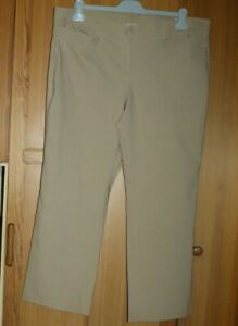 PANTALON Femme marque MS MODE - taille 48  couleur Beige fines rayures blanches