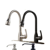Sensor Touch Kitchen Sink Faucet Single Handle  Pull Out Sprayer Mixer Tap