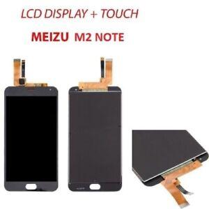 LCD PER MEIZU M2 NOTE DISPLAY TOUCH SCREEN NERO SCHERMO VETRO MONITOR NUOVO
