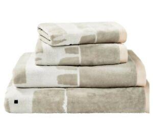 Scion Bath Sheet Mr Fox Cotton Velour Soft Brige / Linen