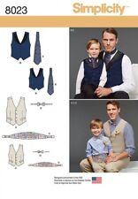 Simplicity Mens & Boys Sewing Pattern 8023 Waistcoat, Cummerbund & Bo...