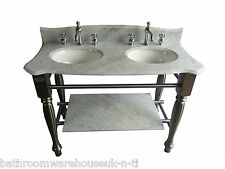 fonte Ensemble lavabo placard Windsor & BUCKINGHAM Carrara marbre blanc