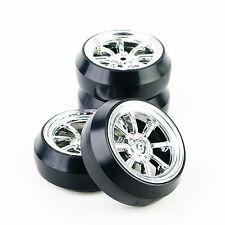 4x RC Drift Tire 12mm Hex Wheel Rims Set 6mm Offset For HSP HPI 1:10 Racing Car