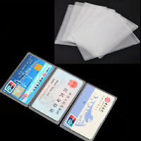 Card Sleeve Cover Protectors Business Card ID Credit Clear Wrap Thin PVC 8/40pcs