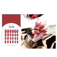 24pcs Fake Finger Nails Color Acrylic Artificial False Full Cover Nail Art TipLJ