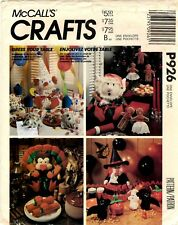 McCall's Craft Sewing Pattern HOLIDAY TABLE CENTERPIECE PACKAGE P926 UNCUT