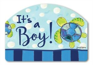 Yard Designs It's a Boy Baby Birth Magnetic House Garden Sign Marker 14x10