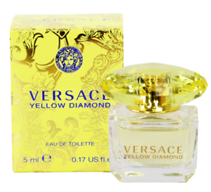 Versace Yellow Diamond 5 mL / 0.17 oz Eau de Toilette Mini for Women NEW IN BOX