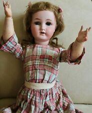 "Rare Antique German William Goebel Bisque Head Doll Germany B3 Doll 22.5"""