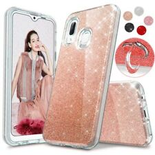 For Samsung Galaxy A20S A20 A50 A70 A51 Bling Shockproof Case+Ring Stand Holder