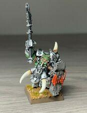 Warhammer Orcs and Goblins - Black Orc Big Boss - Warboss - Metal OOP