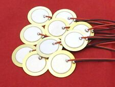 10 x 20mm Piezo Disc Cigar Box Guitar Sensor Drum Trigger Acoustic Pickup Discs