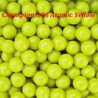 "Marbles 35 Atomic Yellow Champion 9/16"" Sweet Color Collectible and Very Unique"