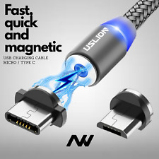 3 in 1 Strong Magnetic Fast Charging Cable Micro USB Type C Android Charger