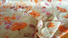 """Beige Floral Print Fabric!!  47"""" Wide!!  SOLD BY THE YARD!!"""