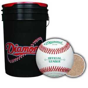 Diamond Sports Baseball & Ball Bucket Combo with 30 D-OB Practice Balls - NEW