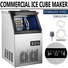 110lb Commercial Ice Maker Machine Countertop Stainless Steel Withice Shovel Hose